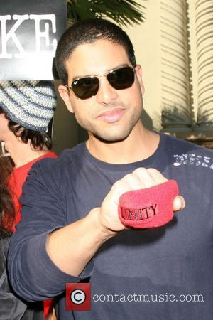Adam Rodriguez Writers Guild of America on strike outside Paramount Studios Los Angeles, Calfornia - 12.12.07