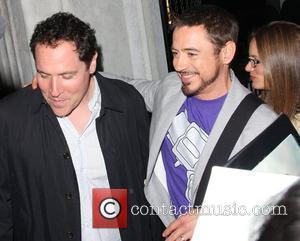 Director Jon Favreau and Robert Downey Jr