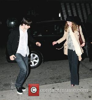 Justin Long and Drew Barrymore leaving Mr. Chow after dining together Los Angeles, California - 04.05.08