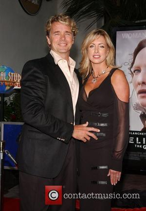 John Schneider and Elly Schneider Film premiere of 'Elizabeth: The Golden Age' held at Gibson Amphitheatre at Universal City Walk...