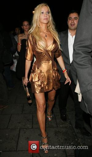 Alicia Douvall leaving the OK Magazine New Year Party, held at Embassy Nightclub London, England - 16.01.08