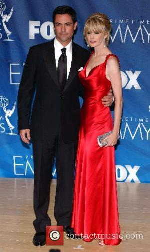 Danny Pino and Kathryn Morris The 59th Primetime Emmy Awards at The Shrine Auditorium - press room Los Angeles, California...