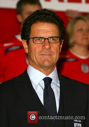 Fabio Capello England players, manager and fans launch the new England football away kit at the Grove Hotel Hertfordshire, England...