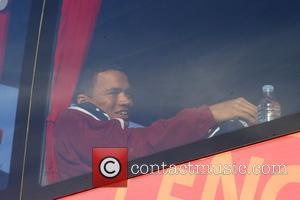 Jermaine Jenas Fabio Capello's England team board the bus to take them from The Grove Hotel to Colney Heath for...