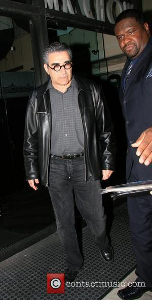 Eugene Levy star of the film 'American Pie', leaving Mr Chow restaurant after dining with friends Beverly Hills, California -...