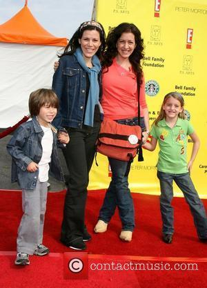 Tricia Leigh Fisher, Joely Fisher and family PS Arts 'Express Yourself' Benefit held at Barker Hanger Santa Monica, California -...