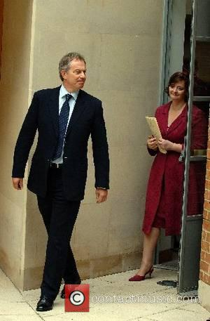 Tony and Cherie Blair attend a memorial service commemorating 25 years since the Falklands conflict at the Falkland Islands Memorial...