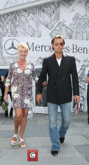 Ivana Trump and Rossano Rubicondi leave the Badgley Mischka Fashion Show Mercedes-Benz Fashion Week New York Spring 2008 at Bryant...