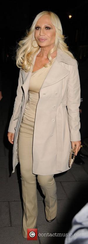 Donatella Versace Fashion Fringe 2008 at Claridge's Hotel - Departures London, England - 11.03.08