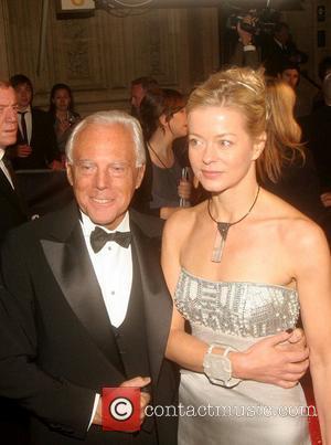 Giorgio Armani and Lady Helen Taylor