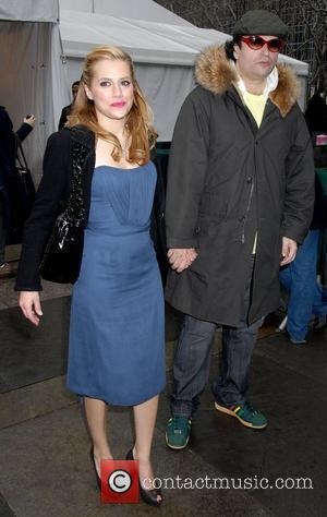 Brittany Murphy and Simon Monjack Mercedes Benz Fashion Week Fall 2008 - Celebrities leaving Bryant Park New York City, USA...