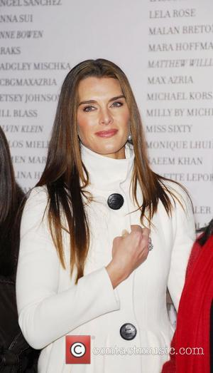 Brooke Shields Mercedes-Benz Fashion Week Fall 2008 ribbon cutting ceremony at Bryant Park New York City, USA - 01.02.08