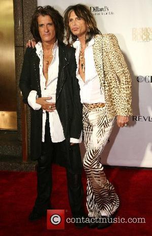 Joe Perry and Steven Tyler Fashion Rocks 2007 at Radio City Music Hall - Arrivals New York City, USA -...