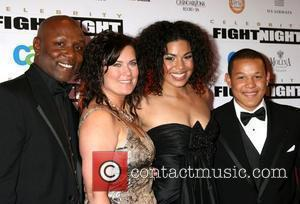 Jordin Sparks with her Parents and Brother Fight Night XIV held at the JW Marriott Resort - Arrivals Phoenix, Arizona...