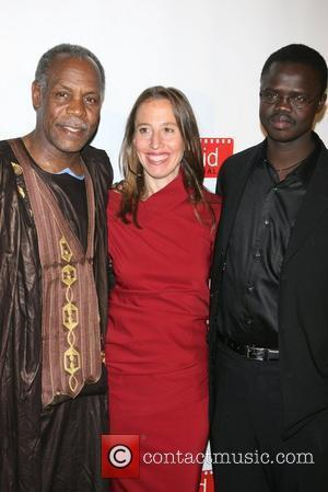 Danny Glover, Caroline Baron, Founder Of Filmaid and Valentino Achak Deng
