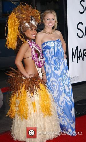 Kristen Bell and Hula Girl