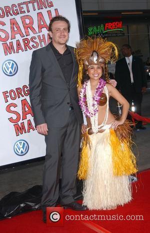 Jason Segel and Hula Girl