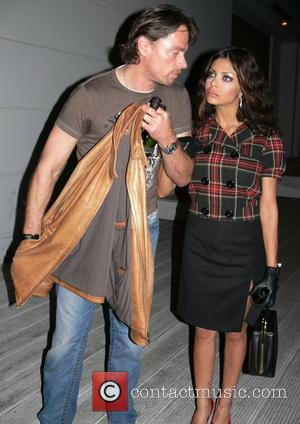 Kader Loth and boyfriend Kim f.rau Becker Fashion Show at the Spindler & Klatt Club Berlin, Germany - 13.07.07