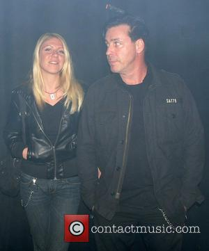 Till Lindemann of Rammstein and girlfriend German premiere of