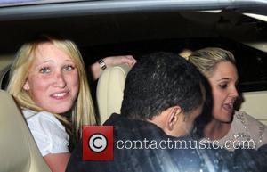 Danielle lloyd with friends leaving Funky Buddha Nightclub London, England - 25.03.08