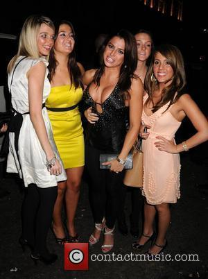 Glamour model Louise Glover  arriving at Funky Buddha nightclub with friends London, England - 26.02.08