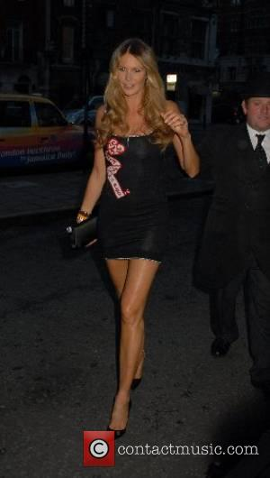 Elle Macpherson leaving George Michael's 44th birthday party held at the Berkeley Hotel London, England - 25 .06.07
