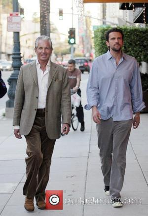 George Hamilton and his son George Thomas Hamilton walking in Beverly Hills California, USA - 03.12.07
