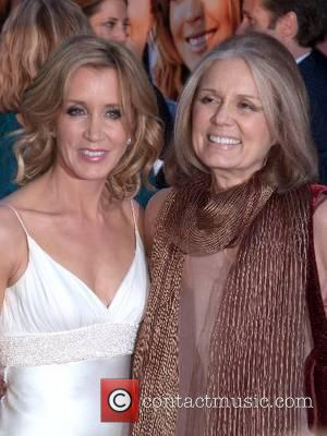 Felicity Huffman and Gloria Steinem at the New York Premiere of