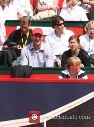 Wladimir Klitschko watching the tennis match between Roger Federer and Carlos Moya at German Open, ATP tournament Hamburg Masters at...