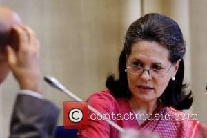 Sonia Gandhi, Mainoat, President of the Indian National Congress during the Nexus reading at the University of Tilburg Tilburg, The...