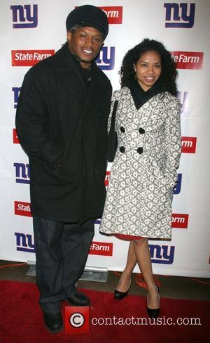 Sway and Grasie Mercedes The Official New York Giants Super Bowl victory party at Tenjune. The Giants defeated New England...