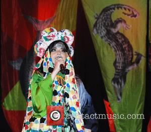 Bjork performing at the 2007 Glastonbury Festival at Worthy Farm, Pilton Somerset, England - 22.06.07