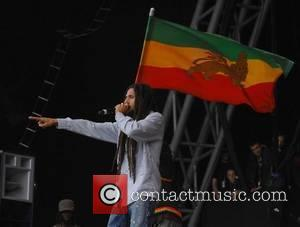 Julian Marley performs Exodus with The Marley Brothers  2007 Glastonbury Festival day 3  Somerset,England - 24.06.07