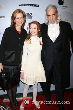 Deborah Forte, Dakota Blue Richards and Sam Elliott at the New York premiere of 'The Golden Compass' at the Ziegfeld...