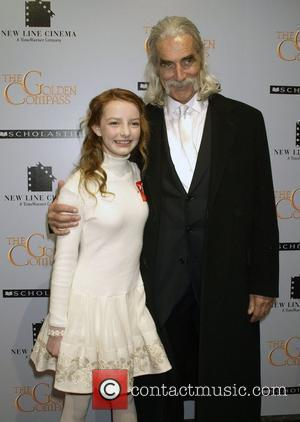 Dakota Blue Richards and Sam Elliott at the New York premiere of