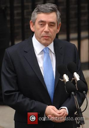 Britain's new Prime Minister Gordon Brown holds a press conference outside 10 Downing Street  London, England - 27.06.07