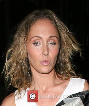Jenny Frost of Atomic Kitten, leaving the Groucho private members club, at 3am, looking rather worse for wear. London, England...