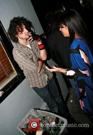 Alex Zane and Lily Allen outside The Groucho Club London, England - 08.02.08