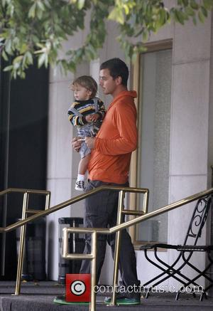 Gavin Rossdale and His Son Kingston Leaving Saks Fifth Avenue