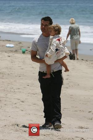 Gavin Rossdale, His Son and Kingston On Malibu Beach