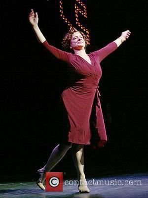 Patti LuPone  during the opening night curtain call for the revival of the musical 'Gypsy' at the St. James...