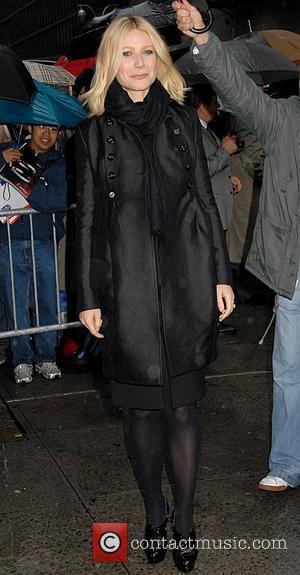 Gwyneth Paltrow and David Letterman