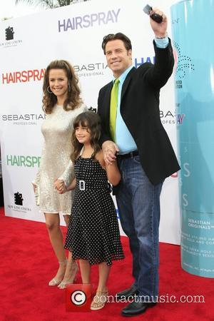 John Travolta, Kelly Preston, and daughter Los Angeles Premiere of 'Hairspray' held at the Mann Village Theatre Westwood, California -...
