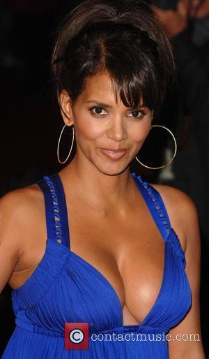Halle Berry, Versace and Odeon Leicester Square