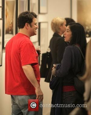 Jimmy Kimmel and Sarah Silverman attending a private party at the Hamilton-Selway Fine Art Gallery in West Hollywood Los Angeles,...
