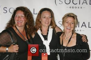 Aida Turturro, Sharon Angela and Edie Falco Hampton SOCIAL @ Ross featuring a concert by Prince - Arrivals East Hampton,...