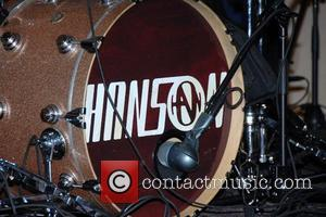 Pop group Hanson. Zac Hanson, Taylor Hanson and Isaac Hanson at Virgin Megastore to promote their new CD
