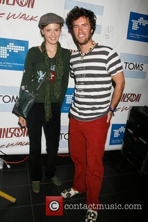 Maggie Grace With Blake Mycoskie of Toms Shoes The Hanson Brothers Team Up With Toms Shoes For A One Mile...