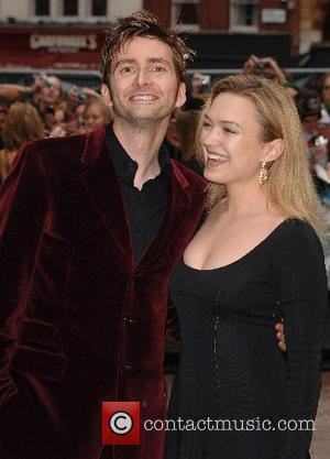 David Tennant and Sophia Myles UK Premiere of 'Harry Potter and the Order of the Phoenix' held at the Odeon...