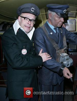 Harry Hill At the British Transport Museum at attend Star in On the Bus a fund raising tour in aid...